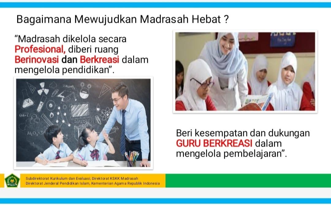 BIMTEK IMPLEMENTASI PEMBELAJARAN BERDASARKAN (KMA 183 DAN 184) DAN IMPLEMENTASI E-LEARNING JENJANG MA (AKIDAH AKHLAQ)